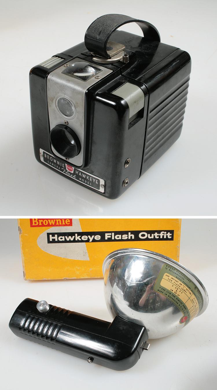 kodak brownie hawkeye camera flash and original box ebay. Black Bedroom Furniture Sets. Home Design Ideas