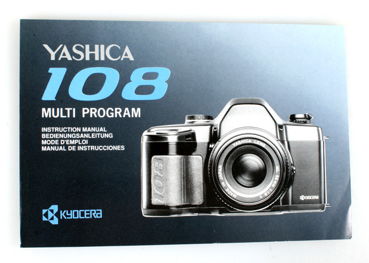 yashica 108 multi program camera manual ebay rh ebay com Camera Instruction Manuals PowerShot Camera Manual