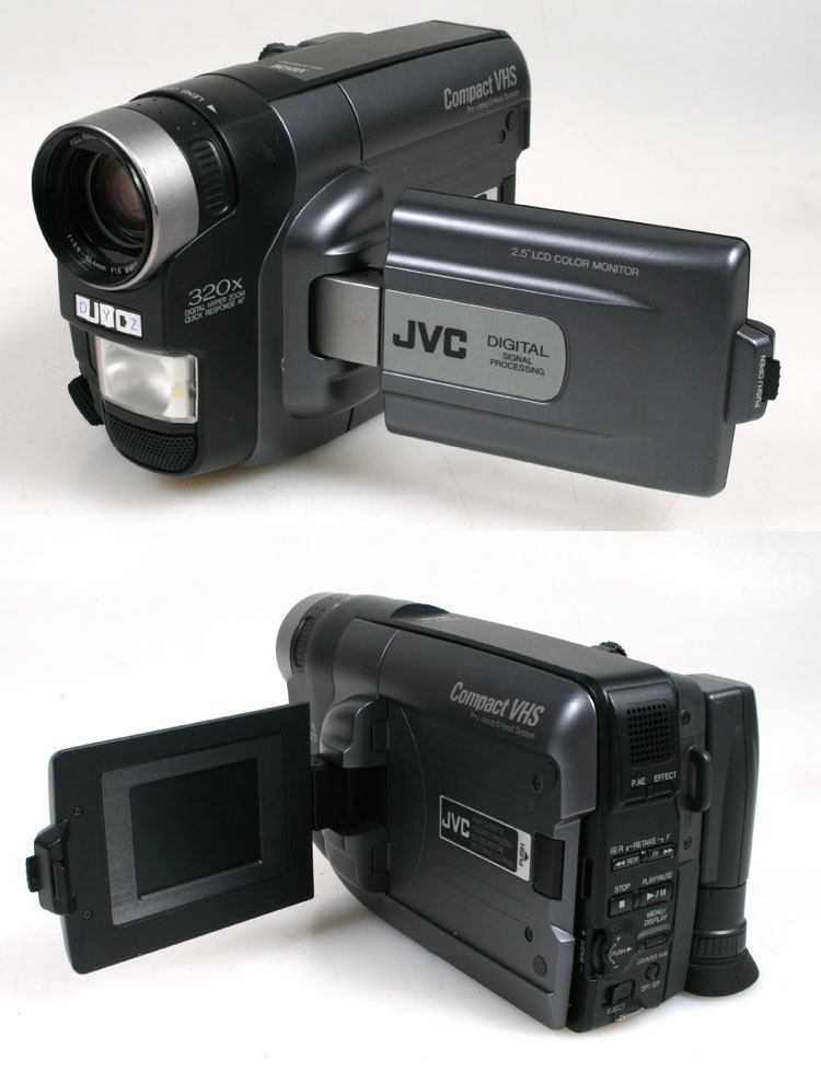 Jvc Compact Vhs Camcorder Pro Cision 5 Head System For Parts Ebay