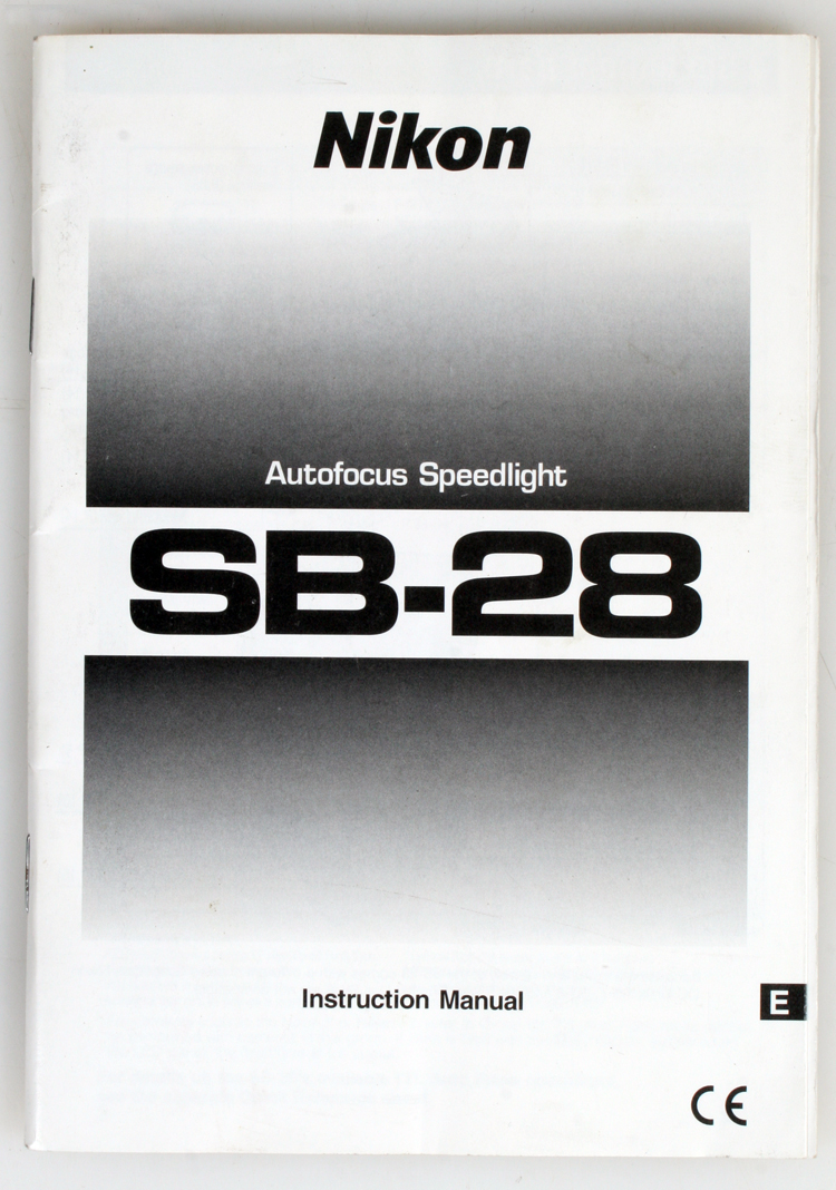 nikon sb 28 speedlight instruction manual ebay rh ebay com speedlight sb-28 manual pdf Nikon SB 28Dx Speedlight