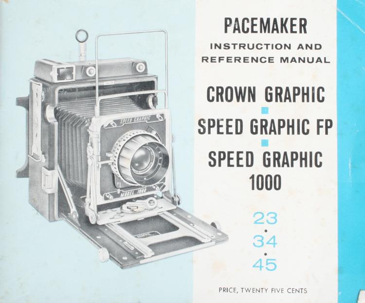graflex crown pacemaker speed fp speed graphic 1000 instruction rh ebay com Greenbrier Graphics Manual Graflex Speed Graphic Manual