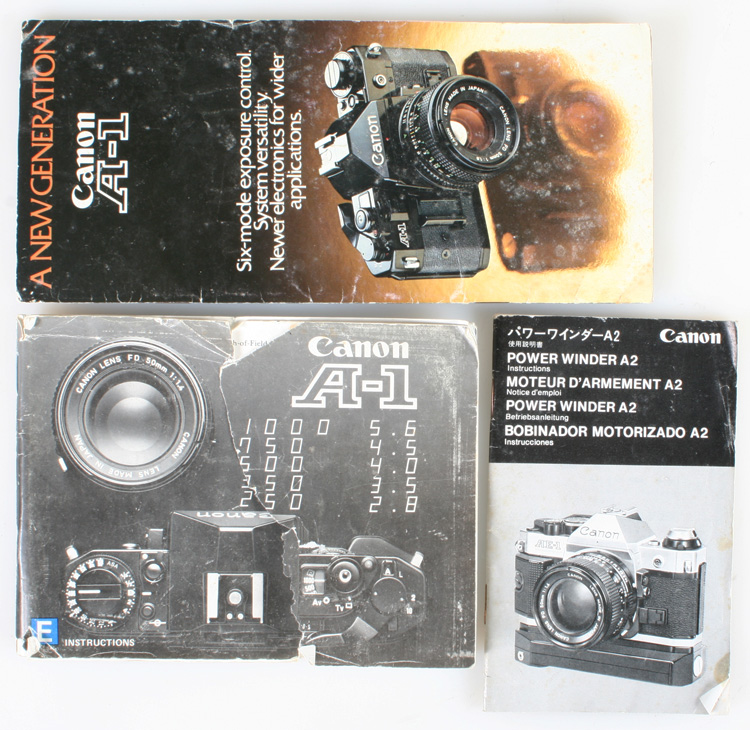 Details about CANON A-1 MANUALS SET OF 3