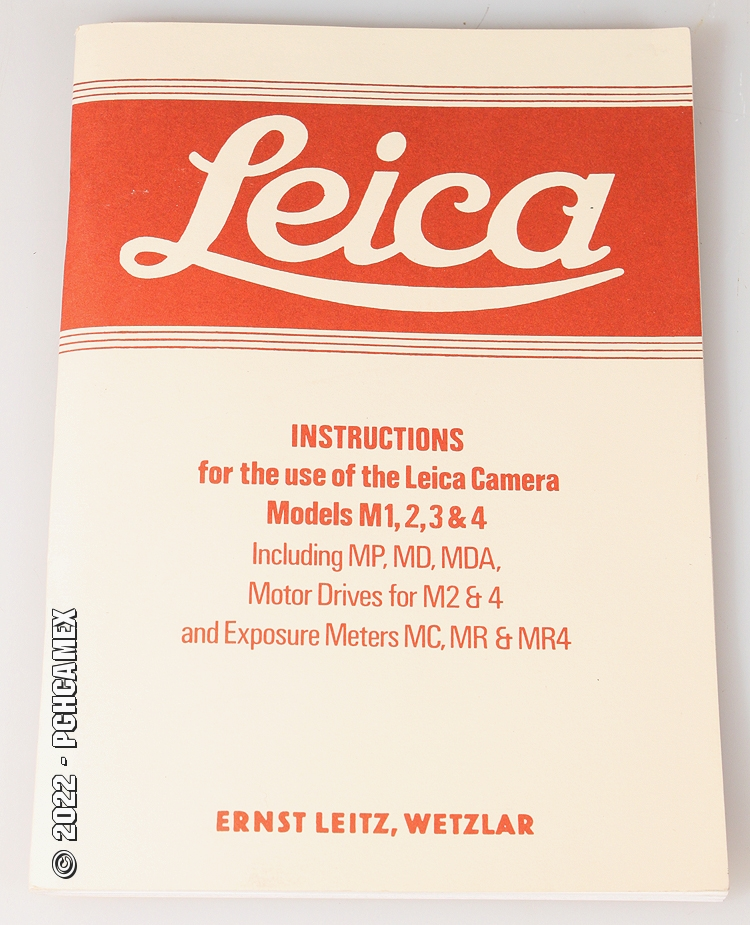 Leica Instructions For Leica Models M1 2 3 And 4 Ebay